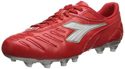 Diadora Soccer Men's Maracana L Soccer Shoe,Red/White,9 M US