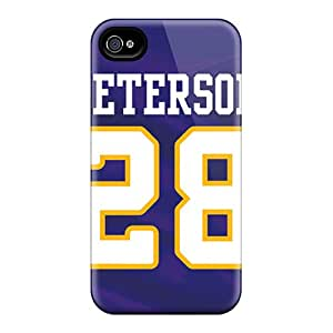 LauraAdamicska Iphone 4/4s Shock-Absorbing Hard Phone Case Support Personal Customs Colorful Minnesota Vikings Pictures [AZh15910nvQU]
