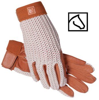 SSG Lycrochet Ultraflex Gloves 8 Natural/Brown
