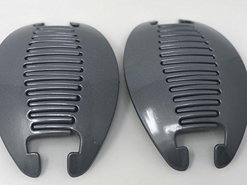 Claw Interlocking - 2 set Jumbo Banana Comb Clip Thick Hair Riser Claw Interlocking Jaw Extra(gray).