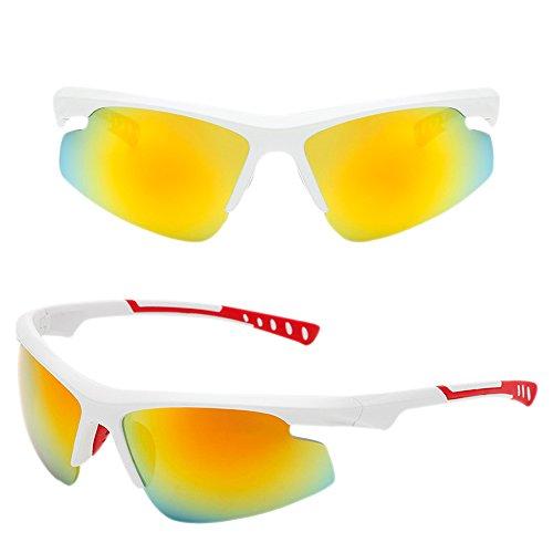hombres de profesionales UV400 antideslumbrantes Amarillo Gafas para polarizadas Blanco sol ligeras de Marco para Gafas Dintang no Gafas sol Gafas Lente exteriores t7YwCAxq
