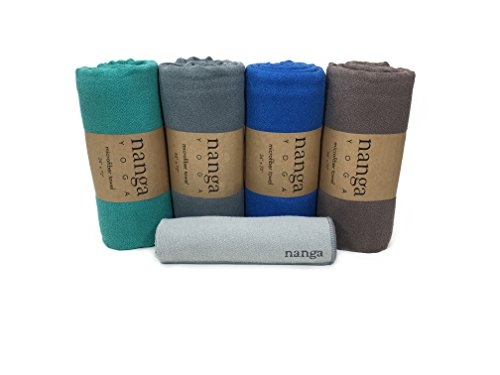 Hot Yoga Towel – Beautiful, Non Slip, Skidless, Ultra Absorbent, Lightweight, Microfiber Towel Sized for Yoga Mats