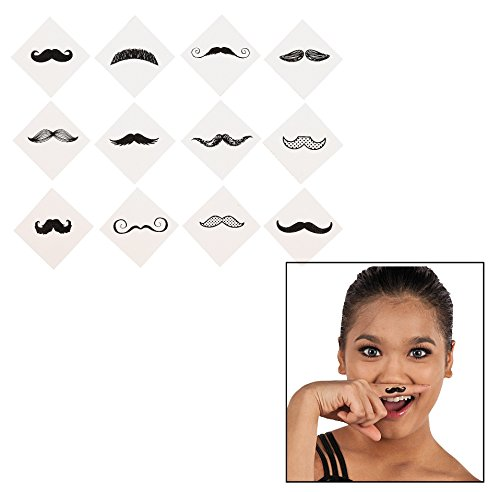 Mustache Party Tattoos- 36 Count, 39/2197]()