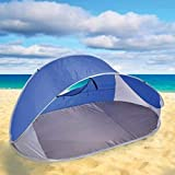 FMH POP-UP Beach Tent – with Carry Bag: Water-Resistant & UV Protection Sun Shelter
