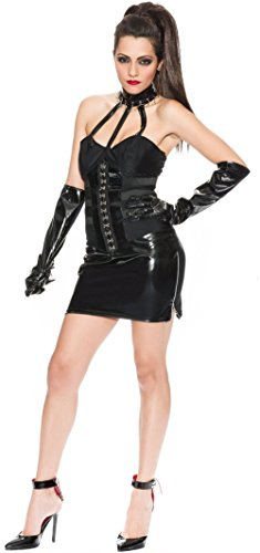Delicious Mistress Mayhem Costume, Black, Medium (Mistress Costumes)