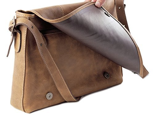 Collection Leather Small Messenger (Flap Genuine Leather Laptop Men Messenger Bag Vintage Briefcase Handmade Imported Satchel Bag)