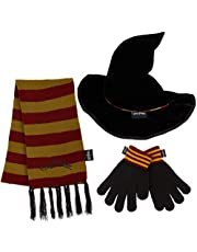 Harry Potter Czapka dla dzieci zestaw rękawiczek, szalik Gryffindor i kapelusz czarodziejski, zestaw akcesoriów dla dziewcząt na zimną pogodę, prezenty Harry Potter