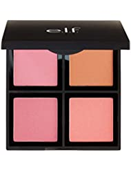 e.l.f. Cosmetics Powder Blush Palette, Four Blush Shades for Beautiful, Long-Lasting Pigment, Light