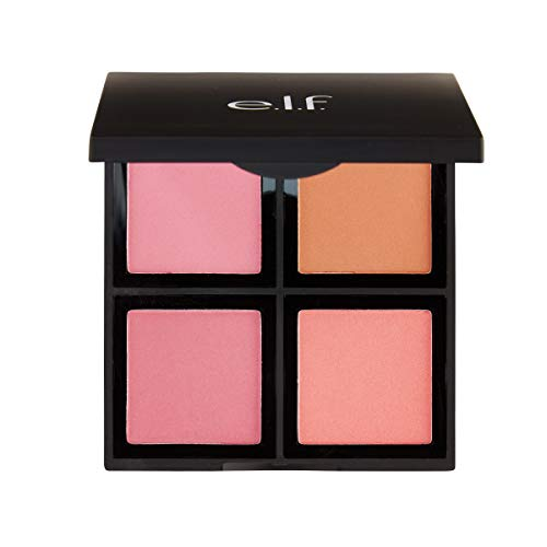 - e.l.f. Cosmetics Powder Blush Palette, Four Blush Shades for Beautiful, Long-Lasting Pigment, Light