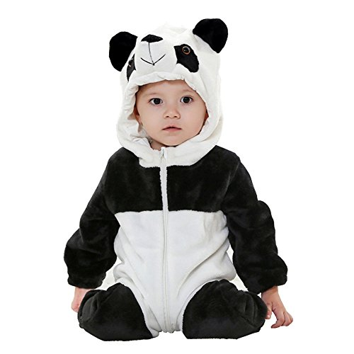 Panda Costumes Baby - MerryJuly Toddler Unisex-baby Halloween Costume Animal Onesie Outfit Panda 90cm/12-18 Months