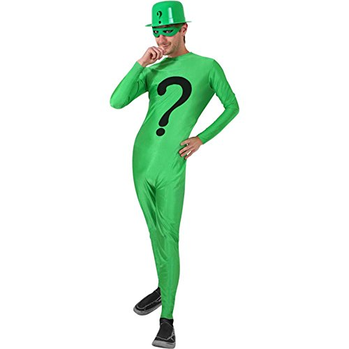 Adult's Riddler Halloween Costume (Size: Standard 44) Green]()