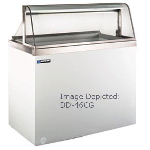 Master-Bilt DD-46CG Ice Cream Curved Glass Dipping/Display Cabinet with (8) Three Gallon Tub Display & (4) Three Gallon Storage Capacity