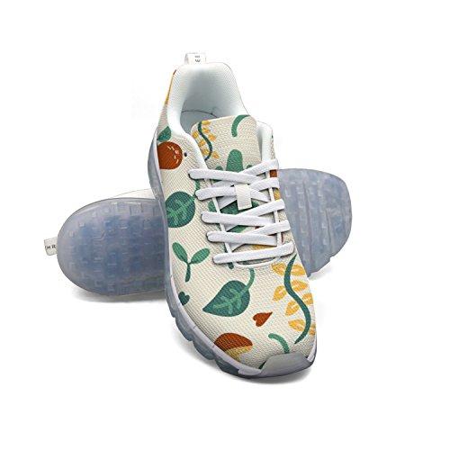 Faaerd Cartoon Fungo E Foglia Verde Donna Traspirante Maglia A Piedi Sneakers Cuscino Daria Scarpe Sportive Traspiranti Scarpe Da Corsa Atletiche