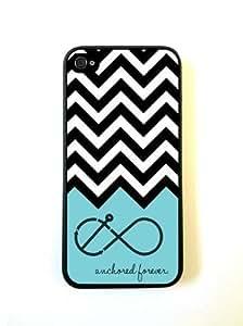 Anchored Forever Chevron Aqua Case For Iphone 6 plus Over CaFor Iphone 6 plus Co...