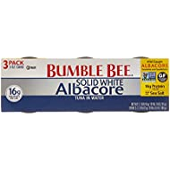 Bumble Bee Solid White Albacore Tuna in Water, 3-pack, 9 oz