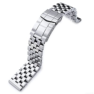 20mm SUPER Engineer Type II Solid Stainless Steel Watch Band, Solid Submariner Clasp by Taikonaut