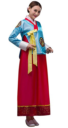 Usa Traditional Costume (CRB Fashion Womens Ladies Korean Traditional Dress Costume Outfit (USA Small, Blue))