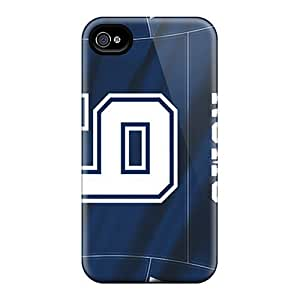 Iphone 4/4s LXk17230BvLS Custom High Resolution Dallas Cowboys Skin Shockproof Hard Cell-phone Cases -Marycase88