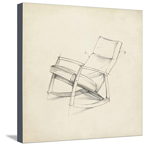 ArtEdge Mid Century Furniture Design IV by Ethan Harper, Stretched Canvas Print, 20x20 in by ArtEdge