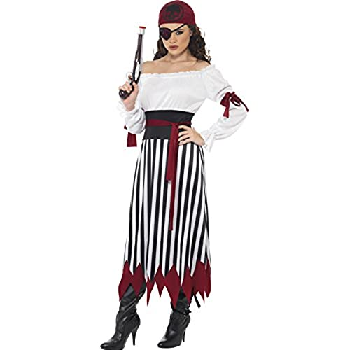 Smiffyu0027s Womenu0027s Pirate Lady Costume Dress with Arms tied Belt and Headpiece Pirate Serious Fun Size 14-16 20803  sc 1 st  Amazon.com & Womenu0027s Pirate Costumes: Amazon.com