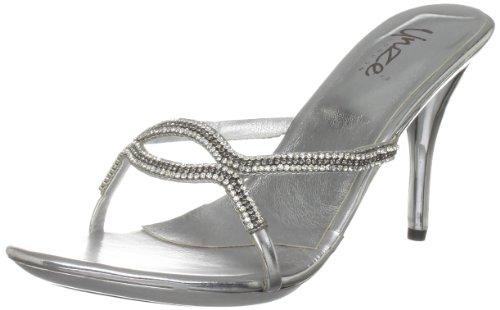 Unze Evening Sandals L18566W - Sandalias para mujer Plateado