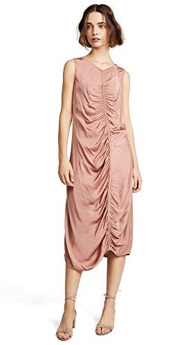 Raquel Allegra Women's Gathered Midi Dress, Petal, 1 (Dress Smocked Twill)