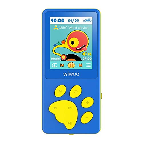 Wiwoo MP3 Player for Kids, Portable Music Player with FM Radio Video Games Sleep Timer Voice Recorder, 1.8