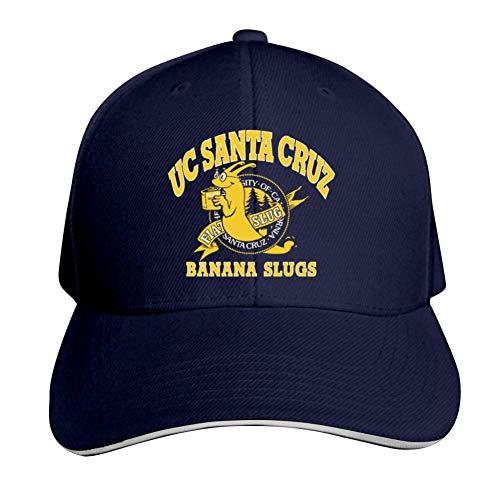 BEKAI Unisex Adjustable Baseball Hat,Fantasy UC San-ta Cru-z Banana Slugs Trucker Hat Sports Peaked Cap Navy