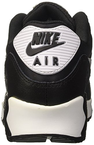 Essential de Air 90 Femme Nike Metallic Black White Silver Max Sport Chaussures Noir qtXxa1