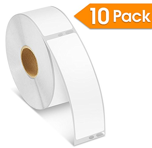 (10 Rolls - Spartan Industrial DYMO Compatible 30252 Replacement Address Barcode Labels (1-1/8
