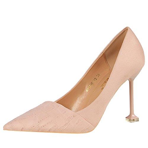 Latasa Womens Pointed-toe Stiletto High Heels Pink h7i4HnNzFA