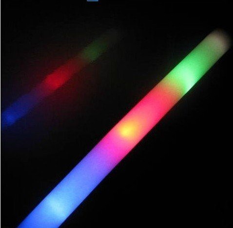 300 pack of 18'' Multi Color Foam Baton LED Light Sticks - Multicolor Color Changing 3 model flashing
