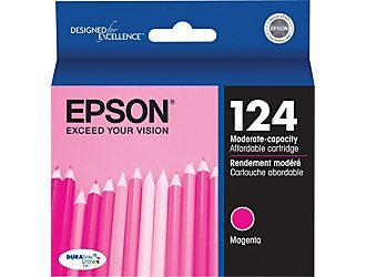 Epson 124 OEM Ink Cartridge: Magenta T124320