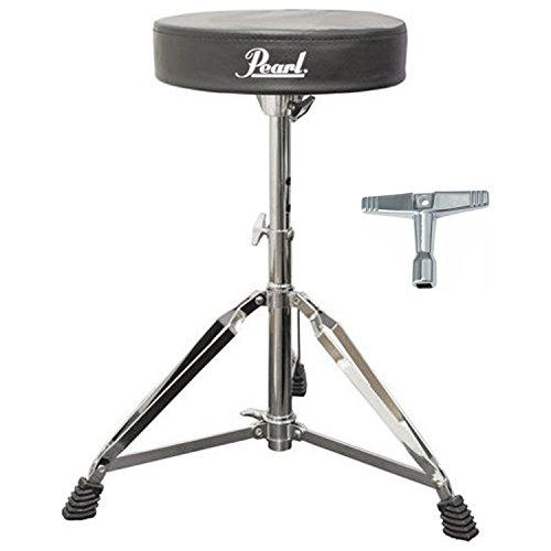 (Pearl D50 Round Cushion Drum Throne Bundle w/Drum Key)