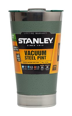 Stanley Classic Thermos 10-01704-001 16 Oz. Green Stainless Steel Pint Glass