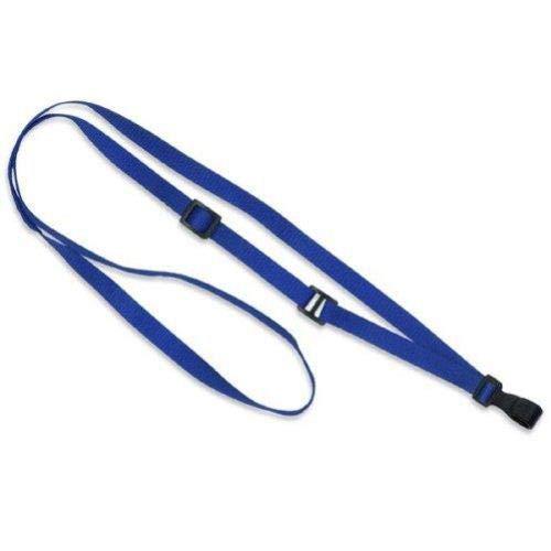 Royal Microweave Lanyard - Royal Blue Lanyard, adjustable, flat MicroWeave, Break-Away, No-twist plastic hook, 3/8