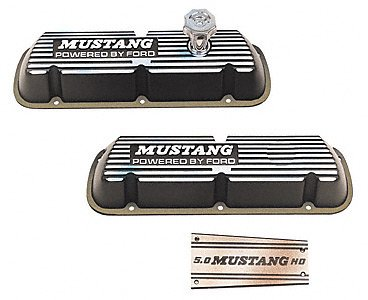 Ford Racing M6000E302 Black Satin Valve Covers, 302