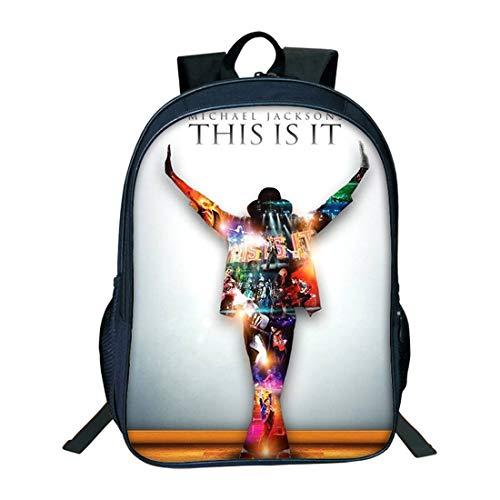 JOYNOV Michael Jackson classic Backpack Charging Backpack Men and Women Backpack Travel Backpack Michael Jackson Fashion Computer Backpack (Pattern1, One_Size) (Michael Jackson Backpack)