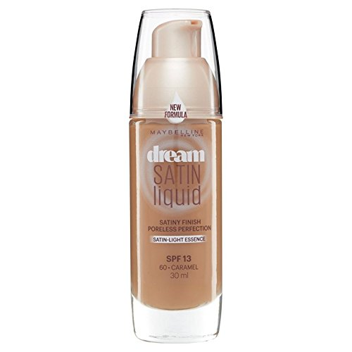Maybelline Dream Satin Liquid Foundation 060 Caramel 30ml (Pack of 6) - メイベリン夢のサテンのリキッドファンデーション060キャラメル30ミリリットル x6 [並行輸入品] B072HJ8P4K