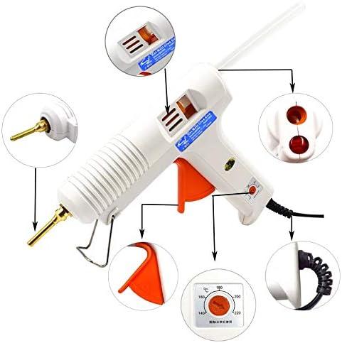 ホームDIY産業の製造のための温度制御サーモスタット5無料スティックのり付き150W 100Wホットメルト接着ガン (Plug Type : EU, Power : 100W)