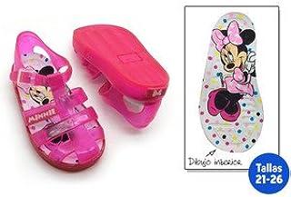 idealcasa Kids–Chaussures été enfant Minnie Fuchsia–Taille–23