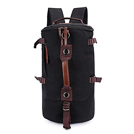 0abfa33433 Amazon.com  Canvas Men Backpack Leather Vintage Daypack Travel ...