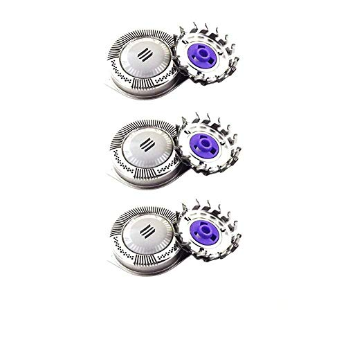 3 Pack Shaver Head Replacement Rotary Blades DualPrecision for Philips...