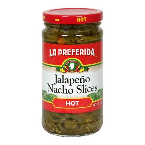 Nacho Jalapeno Peppers (La Preferida Jalapeno Nacho Slices, Hot, 11.5-Ounce Cans (Pack of 12))