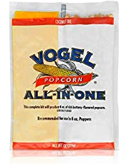 Vogel All in One Coconut Oil Popcorn Kit, 8 Ounce (Pack of 36)