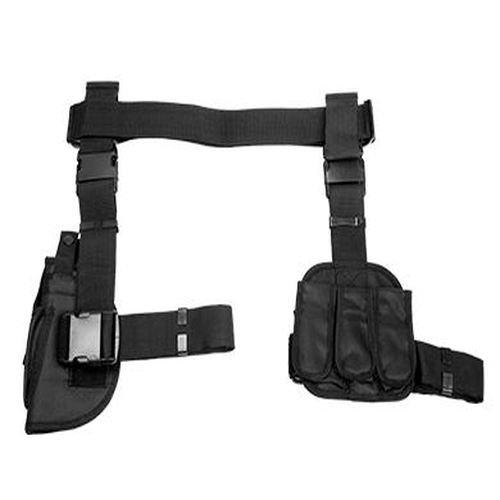 VISM by NcStar 3-Piece Drop Leg Gun Holster and Magazine Holder (CV2908) (Gun Leg Holster With Belt)