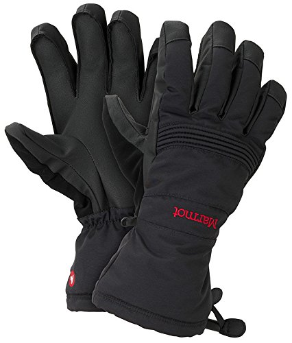 [Marmot Vertical Descent Gloves, Men's, Black, Size XL] (Marmot Mens Work Gloves)