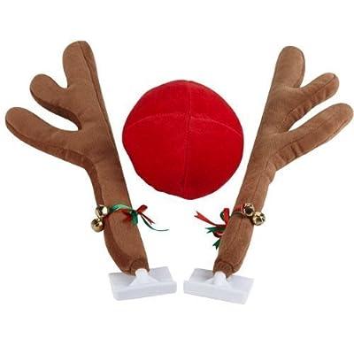 28cm Peluche Rudolphe Le Renne Au Nez Rouge Du Père Noël – Accessoire Voiture Pour Noël