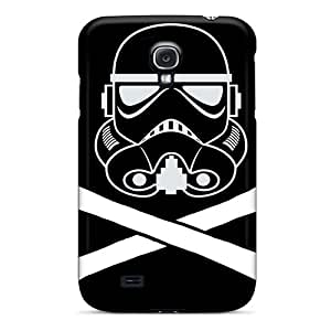Scratch Resistant Cell-phone Hard Covers For Samsung Galaxy S4 (ott1097GBQW) Unique Design Vivid Stormtrooper Pattern