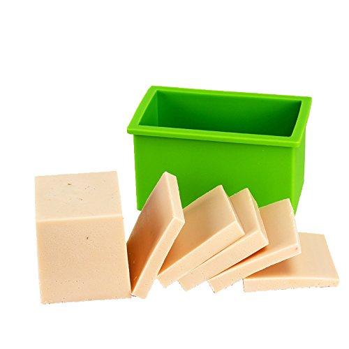 Moule de pain flexible fait main de moule de silicone de savon de petit rectangle